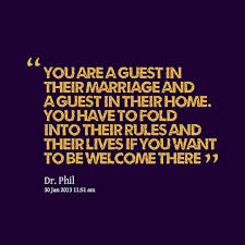 Sage advice for any prospective in-laws nowadays, I think!