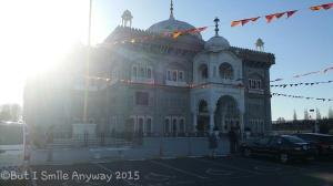 The Gurdwara this morning