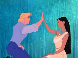 John Smith and Pocahontas in the Disney film