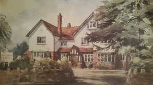 This is Alice House. I went up to the attic to find this painting... a treasured memory of my wonderful time there!
