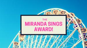 June 2016 miranda-sings-award