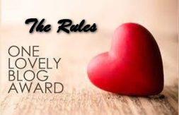 TRH One lovely blog award Rules