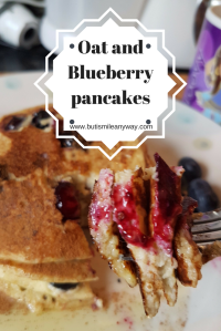 Oat and Blueberry pancakes