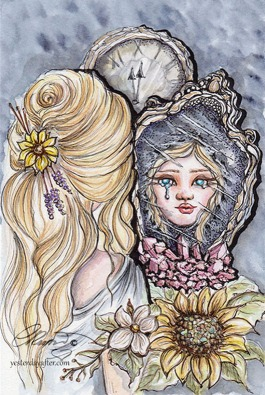 Esme And The Mirror ©Carolina Russo - Online Use - Copy